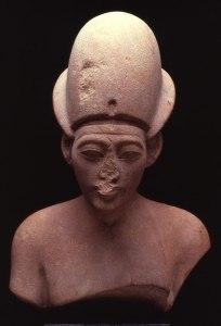 7. Pink Limestone bust of Akhenaten