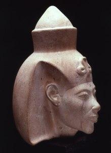 6. White Limestone head of Akhenaten