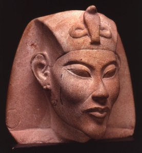 5. Pink limestone head of Akhenaten