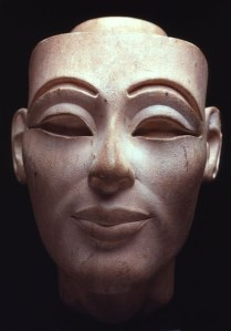 9. White Limestone head of Nefertiti