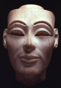 9. White Limestone head of Nefertiti