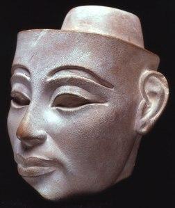 12. White Limestone head of Nefertiti