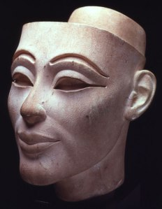 10. White Limestone head of Nefertiti