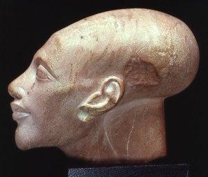 13. White Limestone Princess head