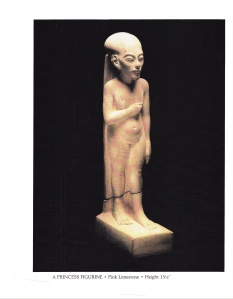 No.16 - A Princess Figurine - Pink Limestone - Height 15 & ½ inches